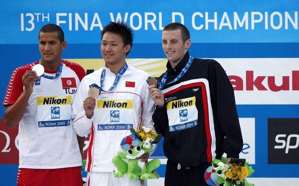 Китайский пловец Чжан Линь выиграл золото, серебро завоевал Усама Меллули из Туниса, бронзу канадец Райан Кохрейн