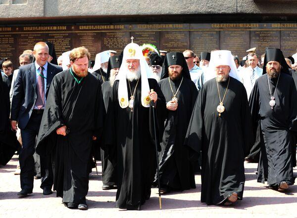 Патриарх Кирилл с сопровождением