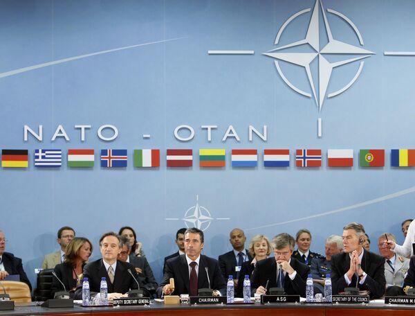 Совет НАТО в Брюсселе под председательством Андерса Фог Расмуссена