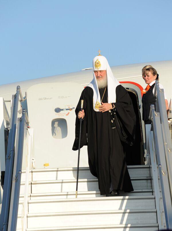 Патриарх Кирилл прилетел в город атомщиков Саров