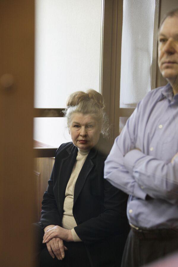 Андрей Таранов и Галина Быкова в Мосгорсуде во время оглашения приговора