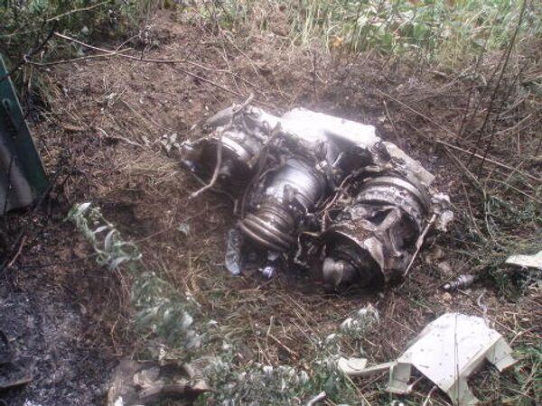 На месте падения Су-27 в Подмосковье