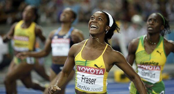 Ямайская спортсменка Шелли Энн-Фрэйзер