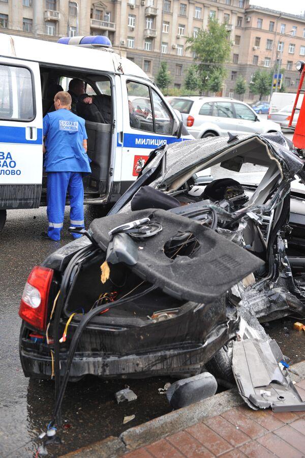 Крупное ДТП произошло на юго-востоке Москвы, погибли два человека