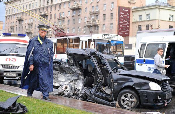 Пять автомобилей столкнулись на юго-востоке Москвы