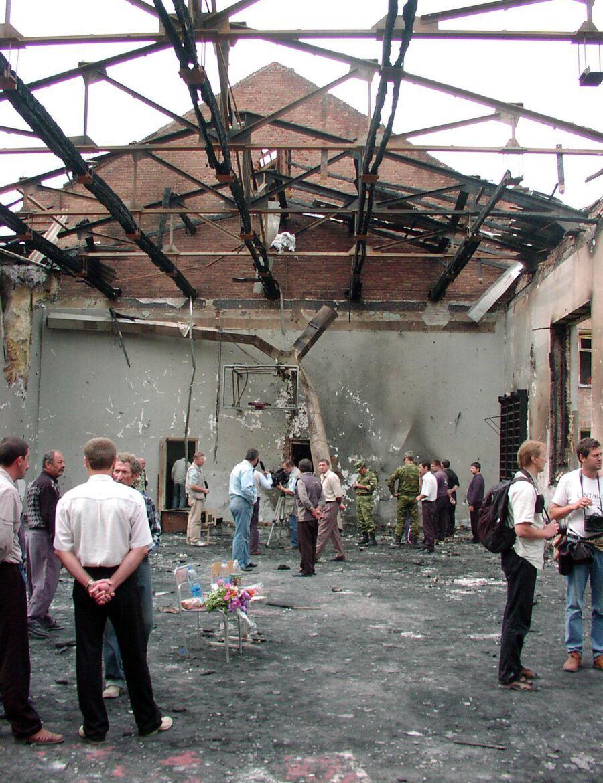 В школе № 1, разрушенной во время теракта
