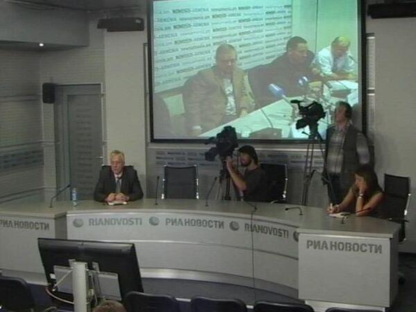 Видеомост с журналистами, которым запретили въезд в Грузию