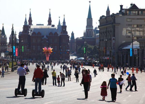 Празднование в Москве. Архив