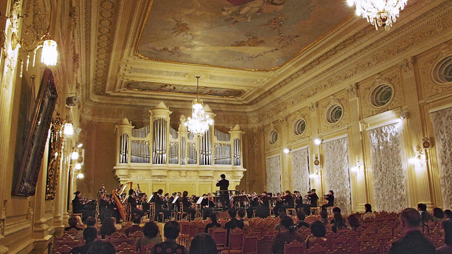 Зал в консерватории в Санкт-Петербурге - РИА Новости, 1920, 10.11.2020