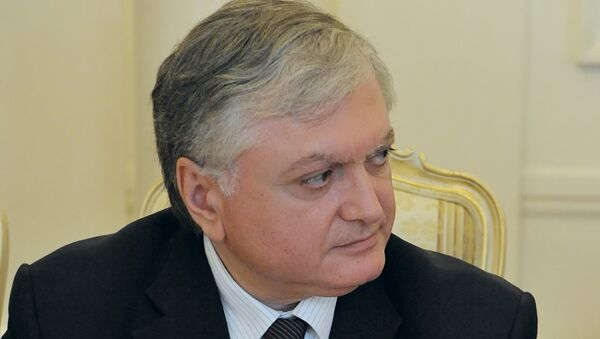 Министр иностранных дел Армении Эдвард Налбандян. Архив.