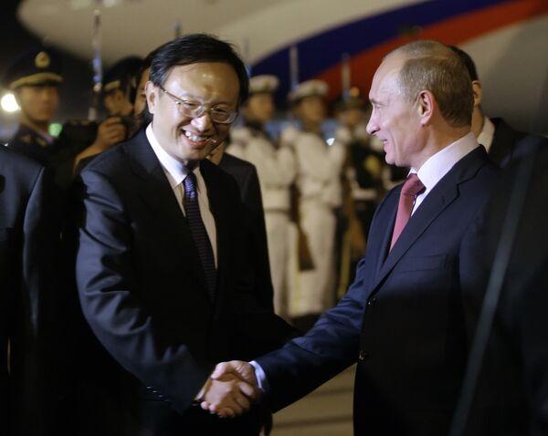 Премьер-министр РФ Владимир Путин во время официального визита в Китай