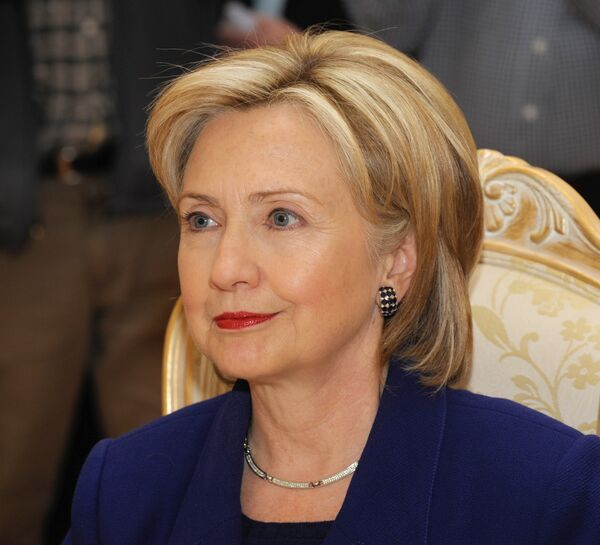 Госсекретарь США Хиллари Клинтон. Архив.