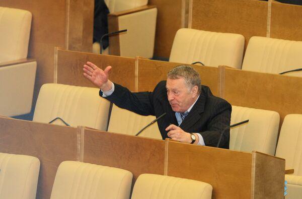 Владимир Жириновский на заседании Государственной Думы РФ
