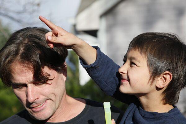 Фэлкон Хин с отцом