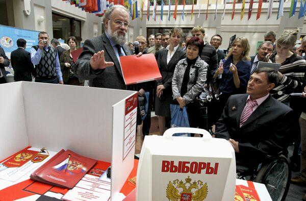 В.Чуров на выставке Технологическое оборудование для выборов