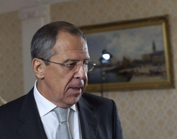 Интервью с министром иностранных дел Сергеем Лавровым