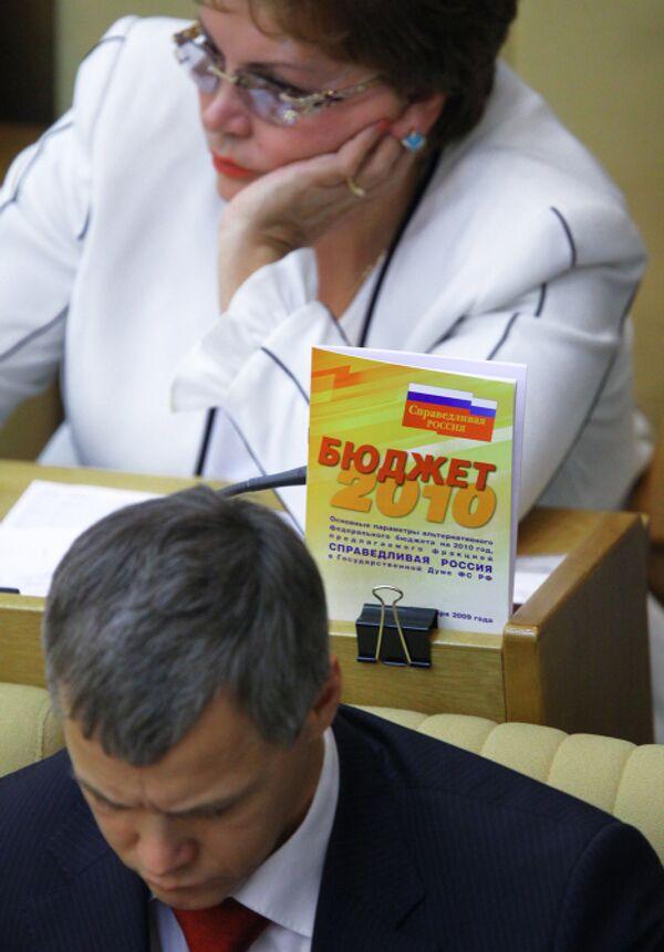 Госдума приняла федеральный бюджет на 2010 год