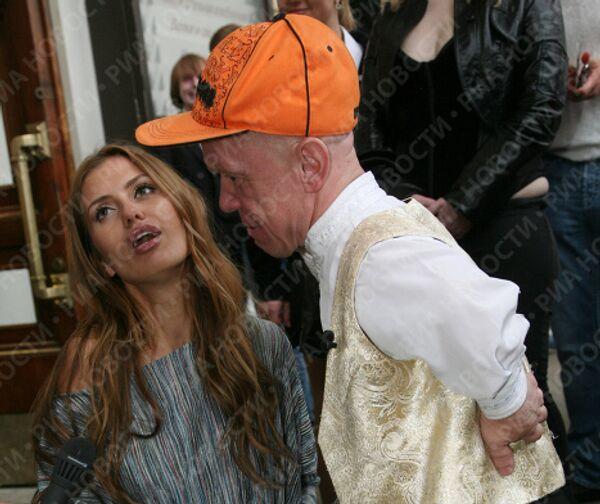 Виктория Боня и Володя Тишенков на XIII-ой церемонии вручения премии Серебряная калоша в Москве