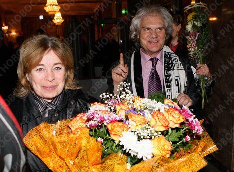 Клоун Юрий Куклачев с супругой Еленой