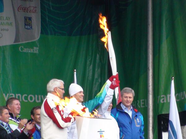 Олимпийский огонь в Виктории