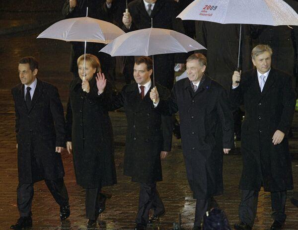 Президент России Д.Медведев на праздновании 20-летия падения Берлинской стены
