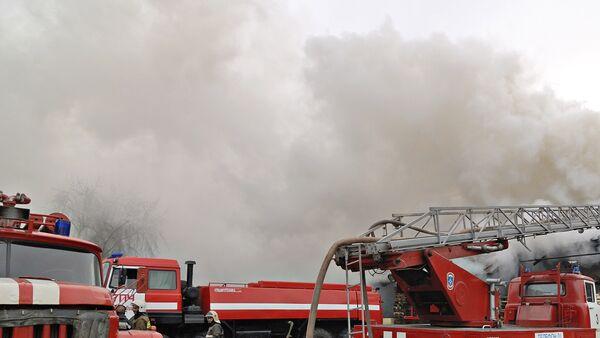 Одна женщина пострадала при пожаре на юго-востоке Москвы