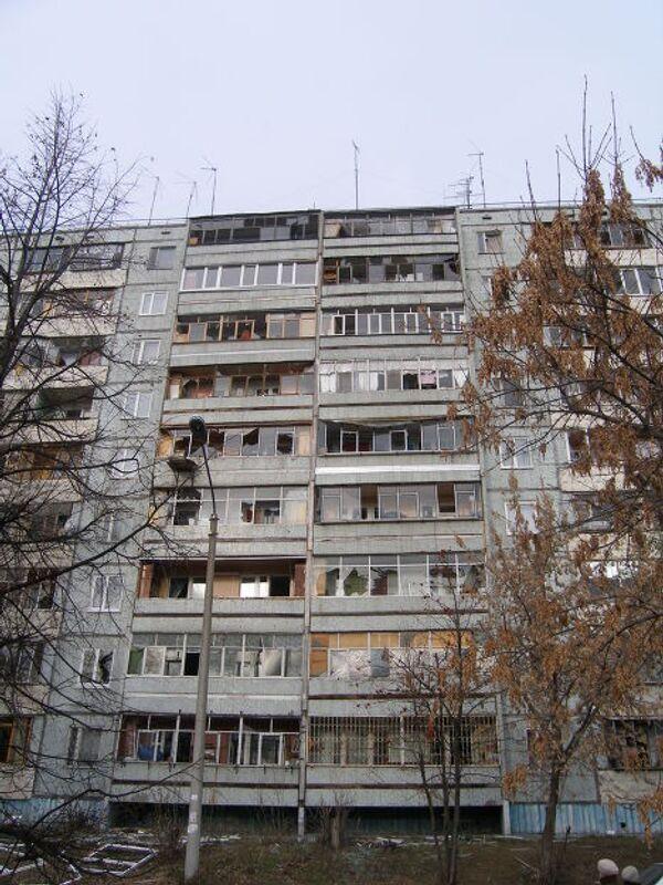 Разбитые окна жилых домов в Ульяновске