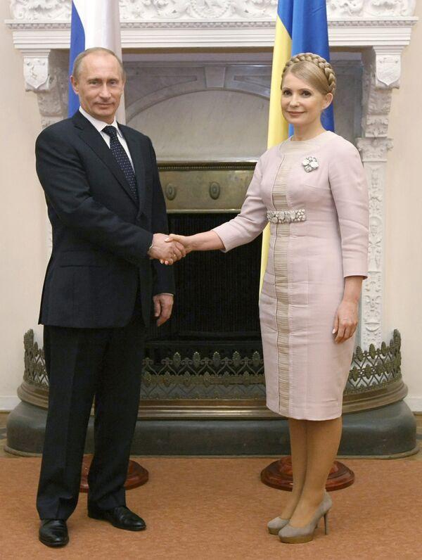 Премьер-министр РФ В.Путин встретился с Ю.Тимошенко в Ялте