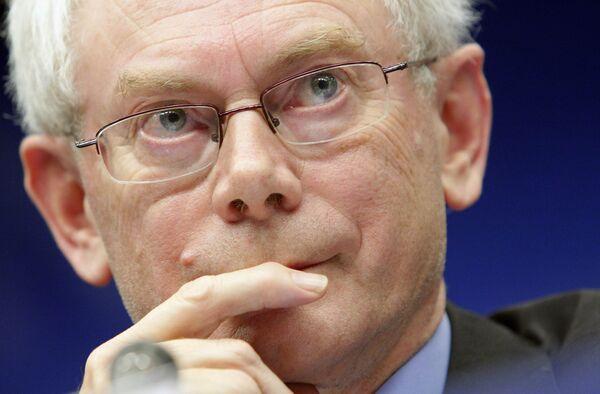 Херман Ван Ромпей избран первым президентом ЕС