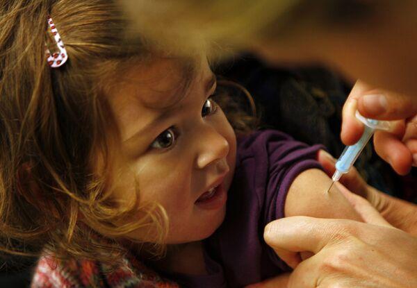 Вакцинация детей против свинного гриппа