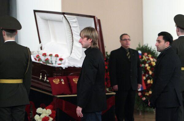 Прощание с экс-сенатором от Санкт-Петербурга Сергеем Тарасовым