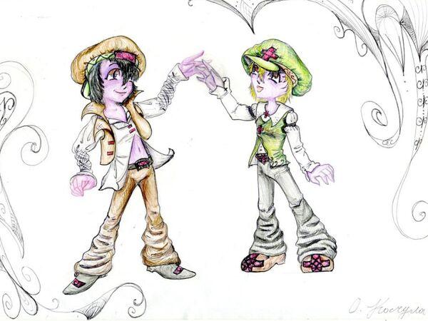 Рисунок Оли Качулы к сказке Жени Макарова Приключения двух братьев