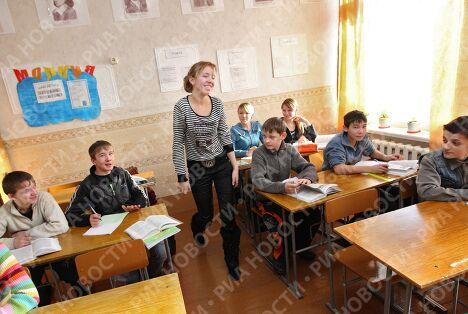 Школьница из Сибири Таня Копнинская, которая задала вопрос премьер-министру В.Путину во время Прямой линии