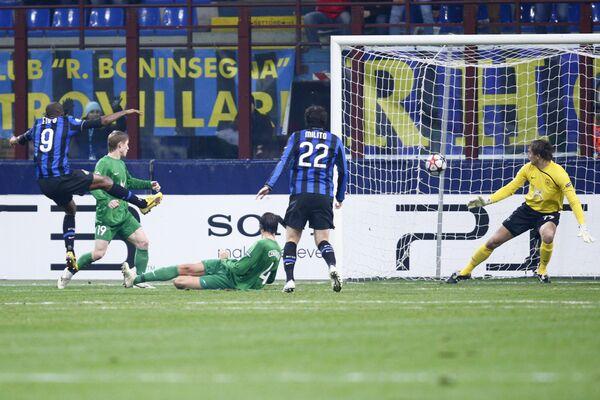 Игровой момент матча Интер (Италия) - Рубин (Россия)