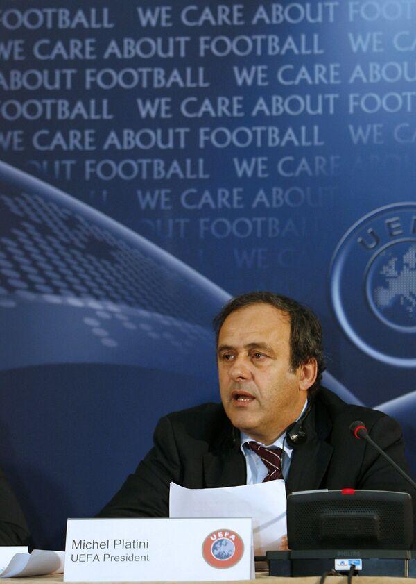 Президент УЕФА Мишель Платини