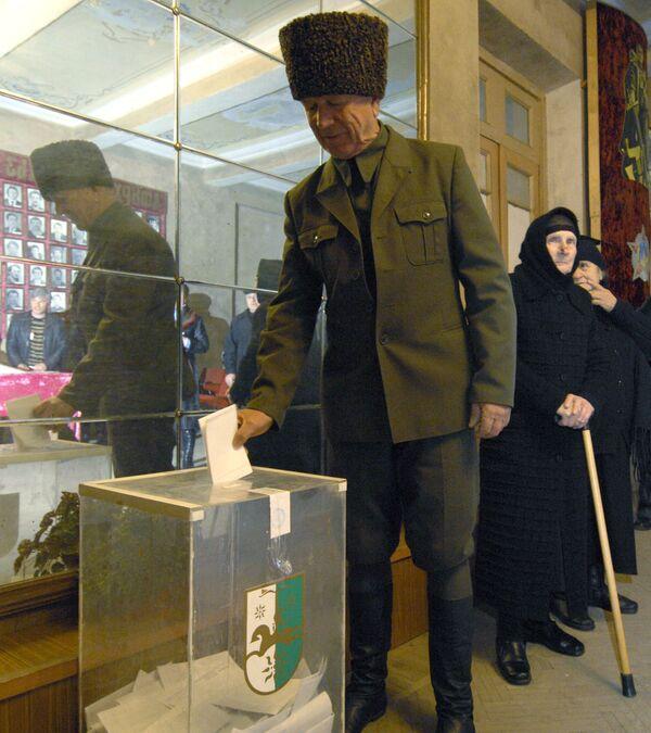 Голосование на выборах президента Абхазии