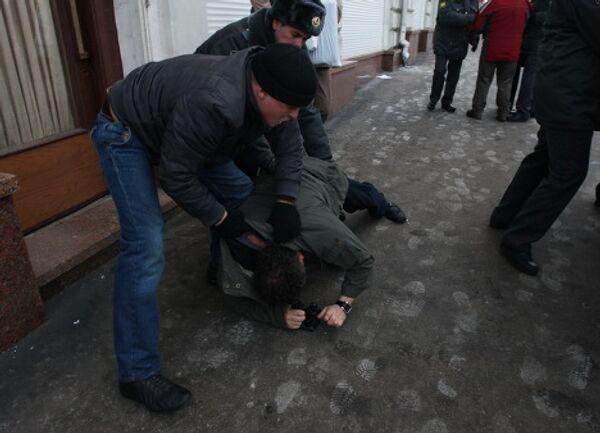 Акция Похороны Конституции, организованная движением Солидарность, прошла в Москве