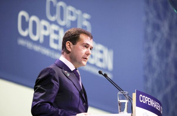 Президент России Дмитрий Медведев на саммите ООН по климату в Копенгагене