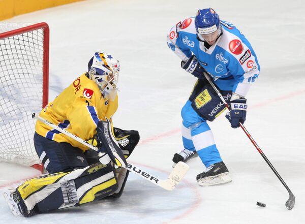 Хоккей. Матч за Кубок Первого Канала: Финляндия - Швеция - 4:3 (по буллитам)