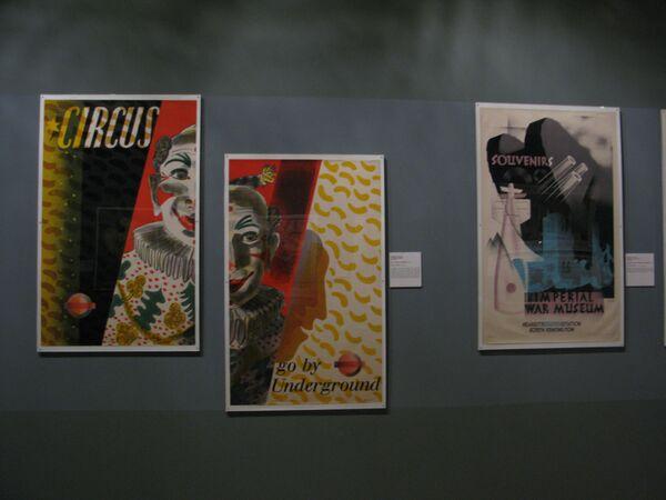Экспонаты выставки Английский постер в ГМИИ им. Пушкина