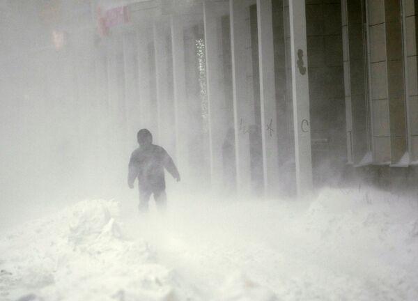Рекордное количество снега выпало в Таллине