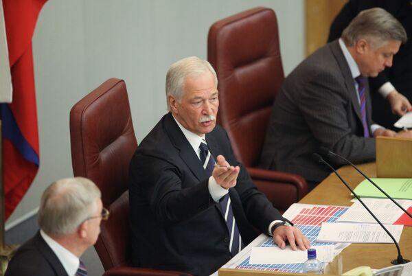 Борис Грызлов на заседании Госдумы РФ 13 января 2010 г.