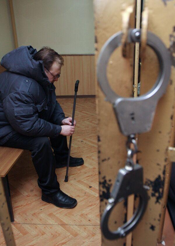 Подполковник милиции Анатолий Маурин в Лефортовском районном суде Москвы