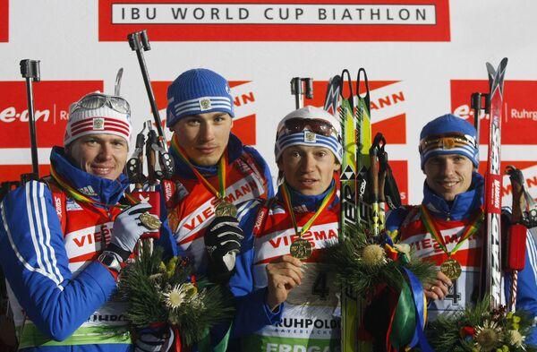 Иван Черезов, Антон Шипулин, Максим Чудов и Евгений Устюгов (слева направо)