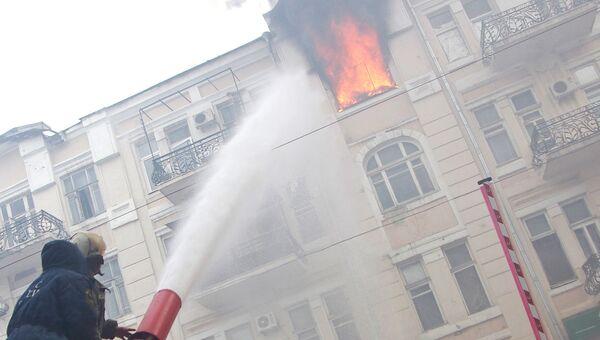 Работа пожарных в Ростове-на-Дону