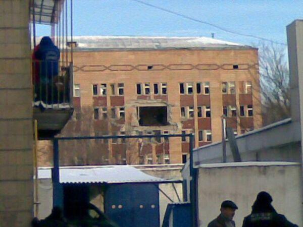 Взрыв в Луганской городской больнице