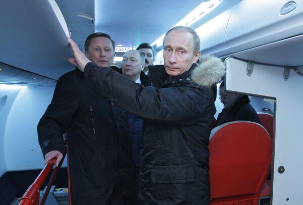 Премьер-министр РФ Владимир Путин посетил ОАО Воронежское акционерное самолетостроительное общество (ВАСО)