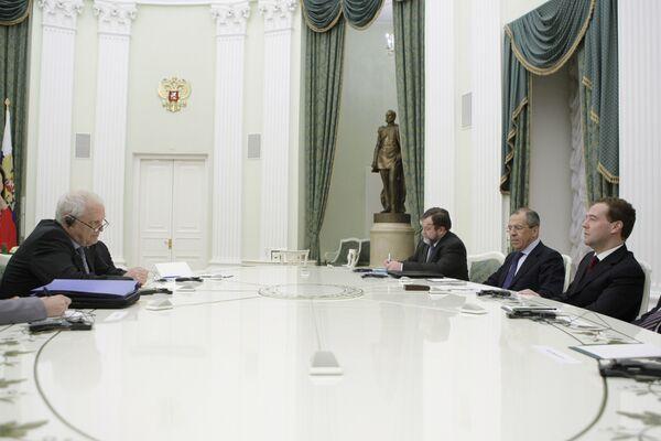 Президент РФ Д.Медведев принял в Кремле Комиссара СЕ по правам человека Т.Хаммарберга