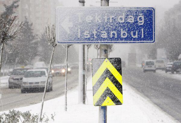 Сильные снегопады в Турции