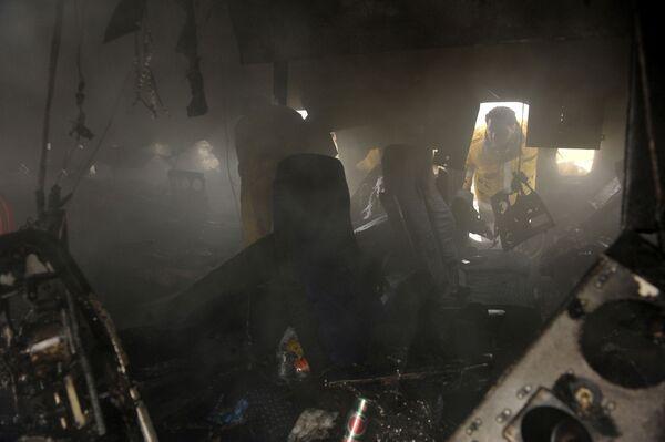 Ту-154 загорелся при посадке в аэропорту города Мешхед на северо-востоке Ирана